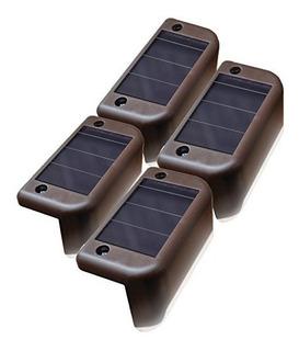 Maxsa Paso Solar Y Barandilla Luces (paquete De 4), Dusk To