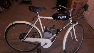 Bicimoto Usada Motor 48 Cc Con Guardabarros Blanca!!