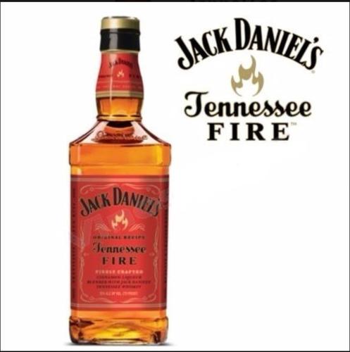 Imagen 1 de 9 de Whiskey Jack Daniels Fire 1000ml Cinnamon Liqueur