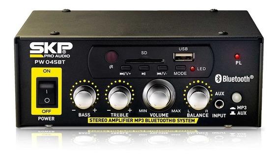 Amplificador Para Som Ambiente Skp Pw045 Bt 180w Blustooth