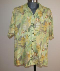 Tommy Bahama Camisa Hawaiiana 100% Seda Talla L