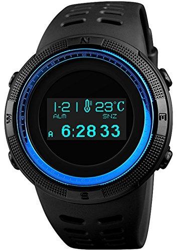 Reloj Digital Deportivo Para Hombre, Multifuncional, Negro,