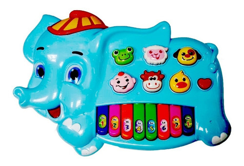 Piano Elefante Musical Luminoso Bebê Melodias Som De Animais