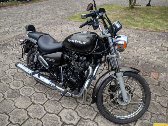Royal Enfield Rumbler 500 Gris + Defensas Y Base Alforjas