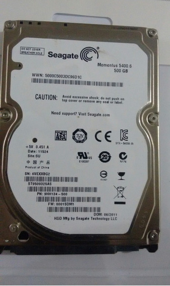 Hd Para Notebook Seagate De 500 Gb (sata)