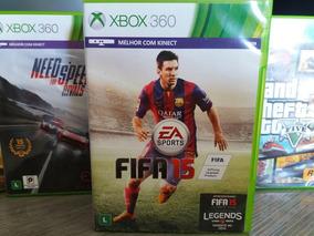 Jogo De Futebol Fifa 15 Xbox 360 Original Mídia Em Português