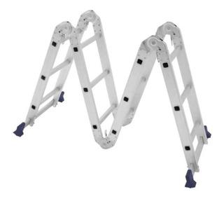 Escada Alumínio Articulada 4x3 12 Degraus E 13 Posições Mor