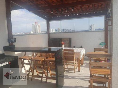 Imagem 1 de 15 de Cobertura Com 1 Dormitório À Venda, 83 M² Por R$ 320.000,00 - Jardim Haydee - Mauá/sp - Co0135