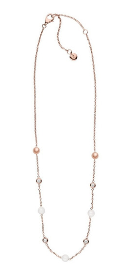 Collar Dama Skagen Sea Glass Skj0963791 Color Oro Rosado