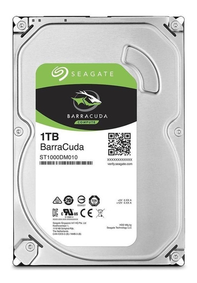 Disco rígido interno Seagate BarraCuda 3.5 ST1000DM010 1TB