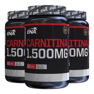 Carnitina Ena 1500 Mg Burn X 60 Cap Quemador De Grasa X 3 Un