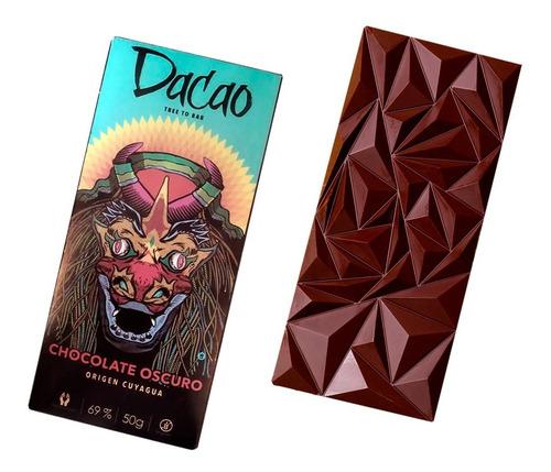 Chocolate Oscuro 69% Cacao 50gr 4un Dacao Origen Cuyagua