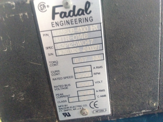 Servo Motor Cnc Para Máquina Fadal