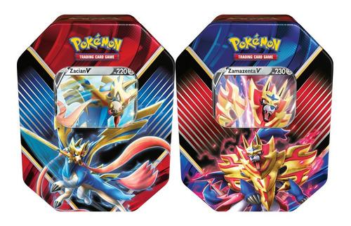 2 Pokémon Lata Lendas De Galar Zacian V + Zamazenta V Cartas