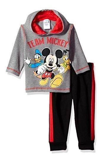 Camiseta Térmica Y De Microfibra Mickey Mouse De 2 Piezas Pa