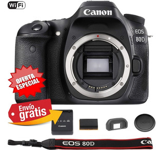 Camara Profesional Canon Eos 80d Cuerpo 24,1 Mpx Wifi Tactil