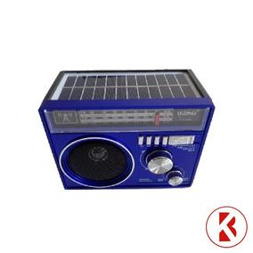 Radio Lelong Le-646 Com Carregamento Solar - Azul