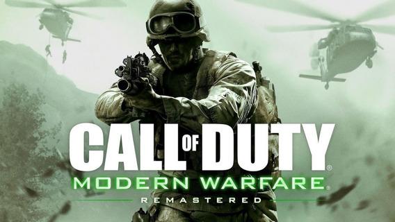 Call Of Duty Modern Warfare Remastered - Pc-dvd Frete Gratis