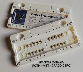 Juego De Bracket Metálico Roth - Mbt - Grado Cero
