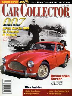 Car Collector Nov/2004 James Bond 007 Aston Martin Morgan