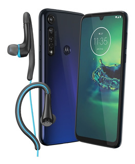 Celular Moto G8 Plus Azul + Regalo Audifonos Earbuds Sport
