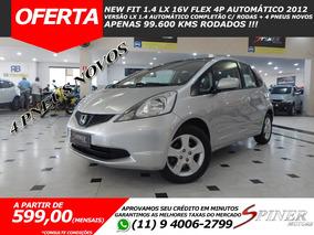 Honda Fit 1.4 Lx Flex Automático Completo C/ 4 Pneus Novos