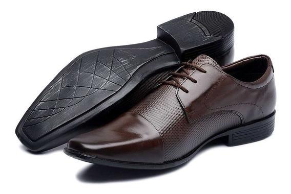 Sapato Social Casual Masculino Barato Couro Legitimo Nobre 100% Estilo Italiano Luxo Amarrar Promoçao Oferta Especial