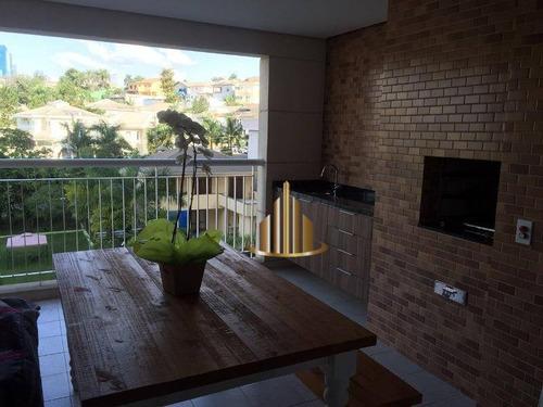 Apartamento Com 3 Dormitórios Sendo 2 Suítes À Venda, 107 M² Por R$ 950.000 - Alphaville - Barueri/sp - Ap0473