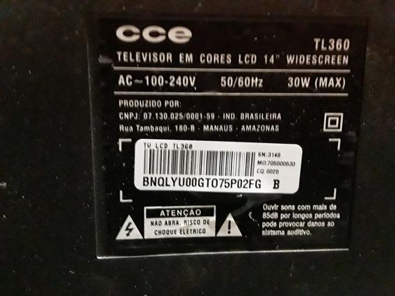 Tv Cd E 14 Polegadas Tl360 Com A Tele Boa Pleca Ruim