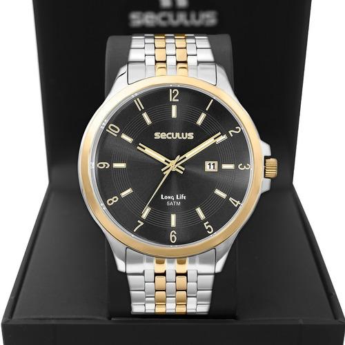 Relógio Masculino Seculus Long Life 20899gpsvba1