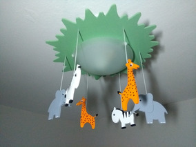 Luminária Lustre Infantil Safari
