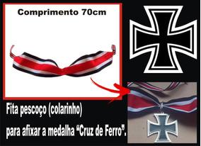 Cruz De Ferro - Fita Para - Ornamento Para Pescoço