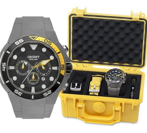Kit Relógio Orient Seatech Solar Mbttc014 P1gx Garantia, Nf