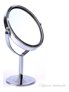 Espejo Doble Cara Maquillaje Giratoria Cosmética Ovalada!