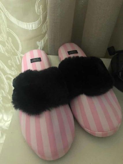 Pantuflas Victorias Secret Color Rosa Talla S