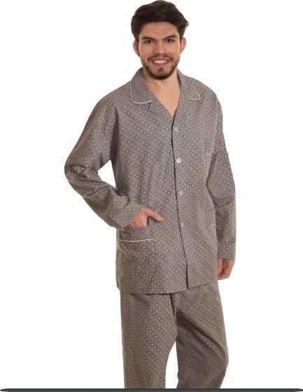Pijama Hombre Prendido M/larga P/largo100% Algodon Cuotas