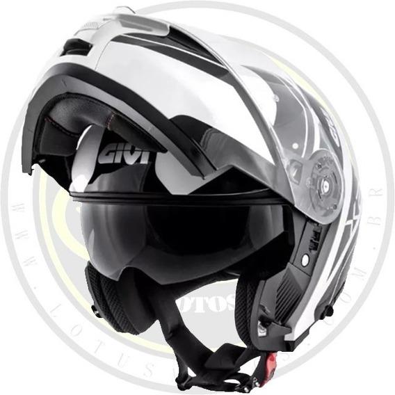 Capacete Articulado Givi X21 Globe Preto E Branco