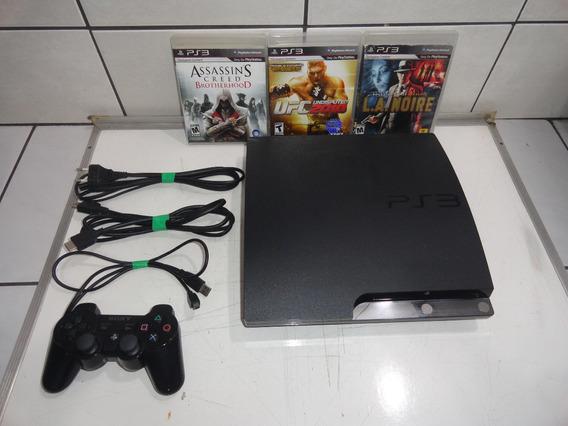 Ps3 Slim Console Hdmi 320gb Coleção Só Jogar C03