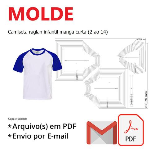 Camiseta Raglan Infantil Manga Curta (2 Ao 14)