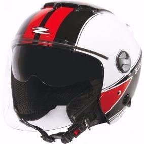 Capacete Zeus 202fb T45 Alva/black/white/red
