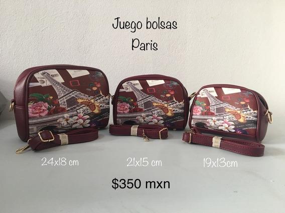 Juego De Bolsas Paris Y Buhos