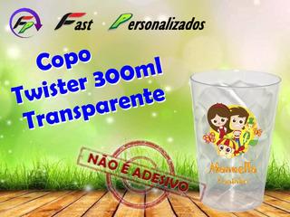 20 Copo Twister Transp. 300ml Sítio Do Pica Pau Amarelo