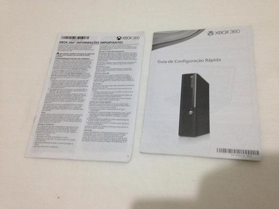 4 Manuais Xbox 360 Slim Console Manete Ler Tudo Frete Gratis