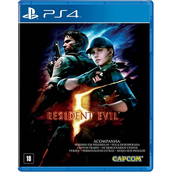 Resident Evil 5 - Ps4 - Midia Fisica - Com Todas As Dlcs