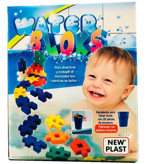 Juguete Balde Para El Agua Bebes Con Bloques 28 Piezas