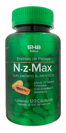 Suplemento Alimenticio Enzimas De Papaya 120 Caps 5h8