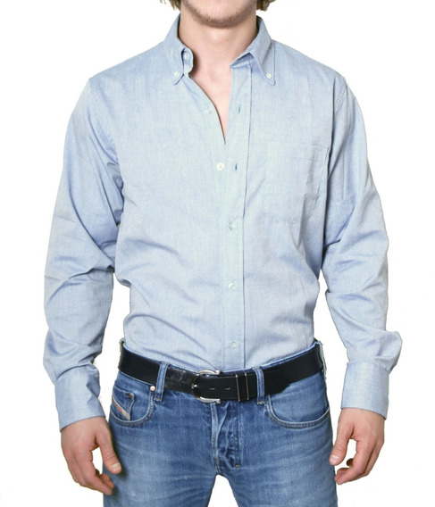 Camisa Oxford Trabajo Uniforme Colores Ch - 3xl