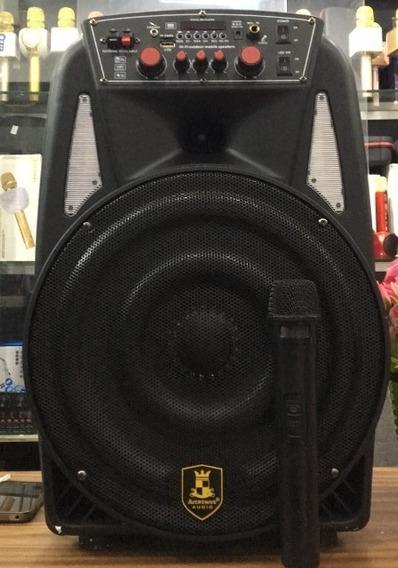 Caixa De Som Amplificada Led Bluetooth Com Microfone 1800ws