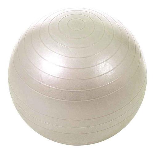 Pelota De Pilates Gymball 75cm Fitness Yoga Gris Plata