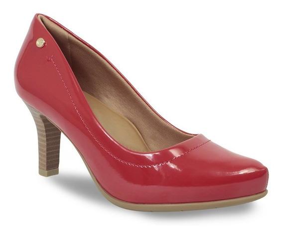 Sapato Feminino Scarpin Comfortflex Salto Alto Verniz 198540